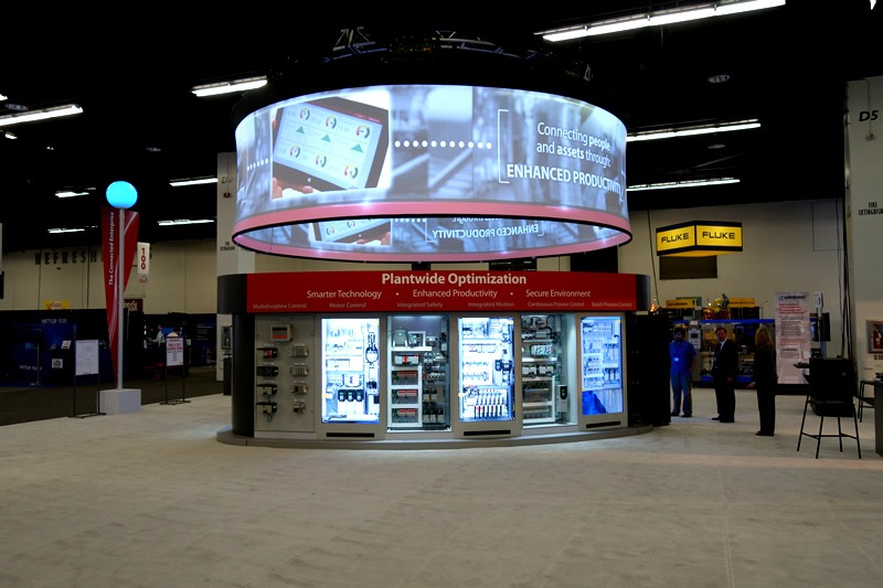 Pixelwix 360 Degree Display Products used in Automation Fair.